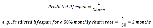 Calculating predicted lifespan for a mobile customer