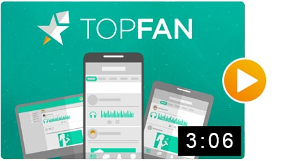 Motion Design TopFan App Video Mobile Explainer