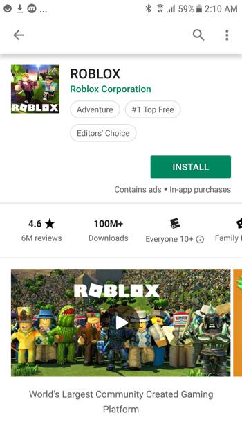 Roblox Feature Graphic Android
