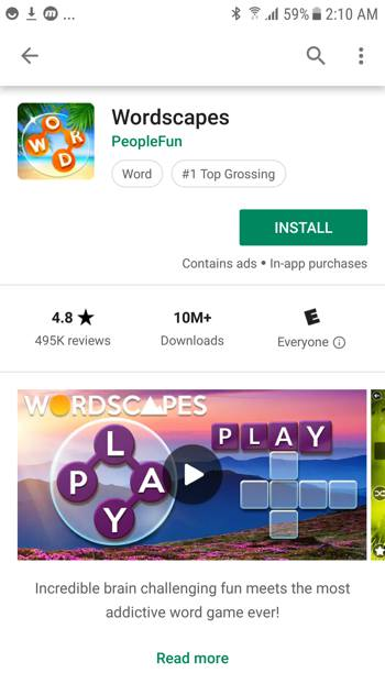 Wordscapes Feature Graphic